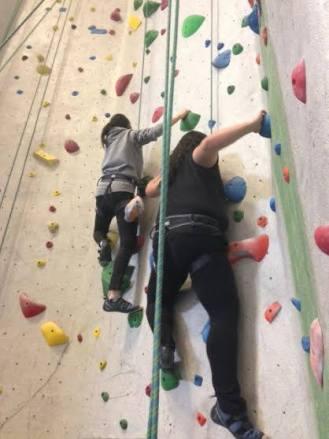 Brothers rockclimbing!