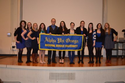 Fall 2012 E-board poses at initiation (Avia not pictured).