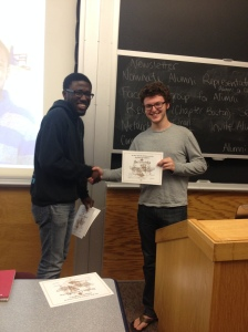 Paul receiving his MVB award